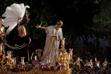 catholicism: Step of mystery of the Brotherhood of St. Benedict, Holy Week in Seville
