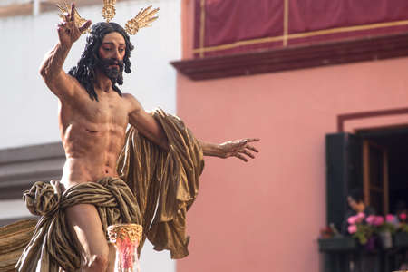 Step of mystery of the brotherhood of the resurrection, the Holy Week in Seville