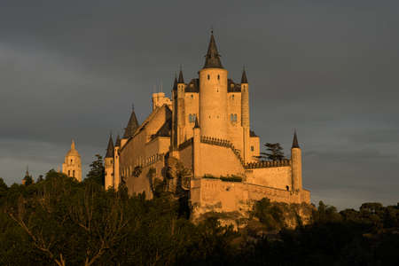 Real Alcazar from the city of Segovia, Spain