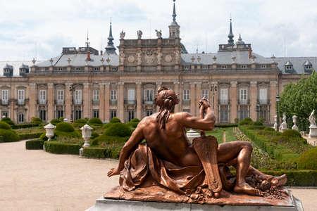 The Royal Palace of La Granja de San Ildefonso, Spain Editorial
