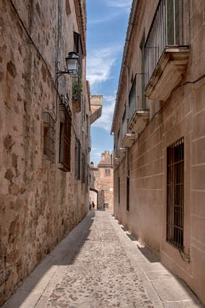 Medieval cities of Spain, Caceres in the community of Extremadura Stock Photo