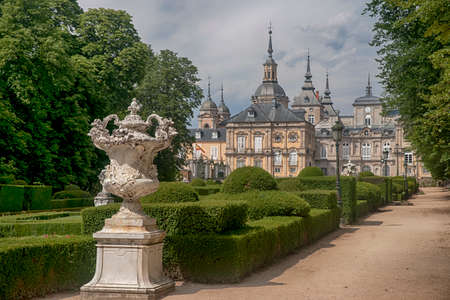 The Royal Palace of La Granja de San Ildefonso, Spain Фото со стока