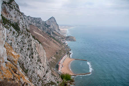 Views of the Rock of Gibraltar from the zone of highest altitude Stock Photo