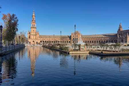Plaza de Espa? ? a de Sevilla built for the Ibero-American exhibition of 1929