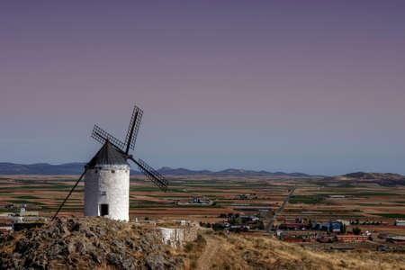 Windmills of Castilla la Mancha where was inspired the book of Don Quixote, Spain