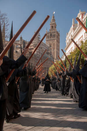 Holy Week in Seville, the penitents