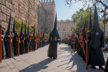 Holy Week in Seville, the penitents Banco de Imagens