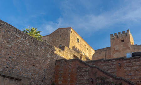 Beautiful medieval city of Caceres in Extremadura Banco de Imagens