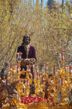 Jesus captive in the procession, Holy Week in Seville