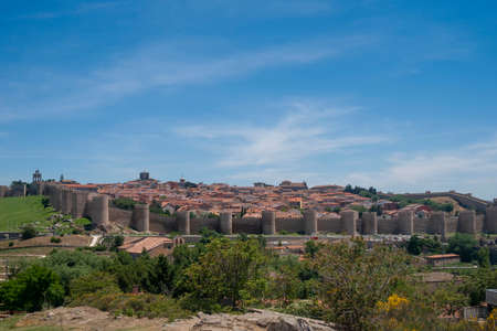 Stroll along the beautiful medieval city of Avila, Spain Banco de Imagens