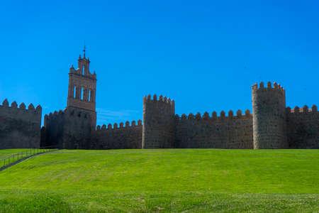 Stroll along the beautiful medieval wall in Avila, Spain