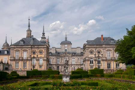 Gardens and the royal palace of La Granja de San Ildefonso, Spain
