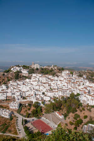 Beautiful white village of the province of Malaga, Casares Imagens