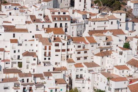 Hermoso pueblo blanco de la provincia de Málaga, Casares Foto de archivo