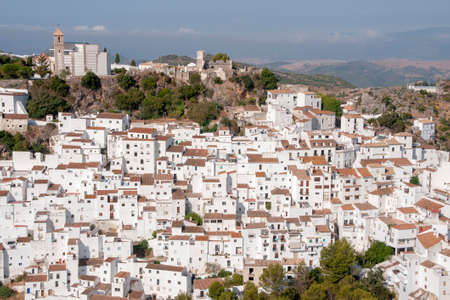 Beautiful white village of the province of Malaga, Casares 写真素材