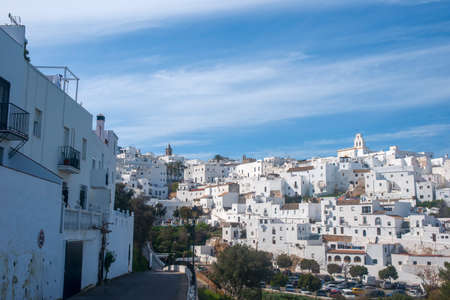 Street in the town of Vejer de la Frontera and one of the so-called white towns of Andalusia Editorial
