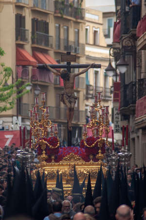 procession of the brotherhood of St. Bernard at the Holy Week in Seville