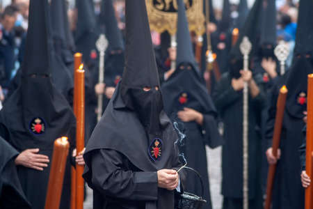 Holy Week in Seville, the penitents Banque d'images
