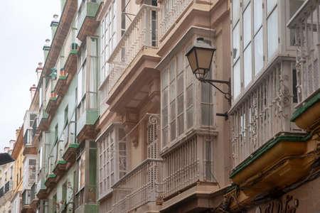 City Center Street of Cadiz, Andalusia Imagens