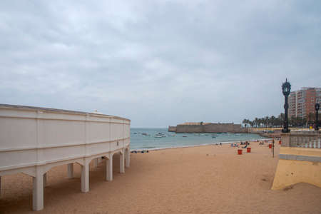Caleta Beach on a beautiful cloudy day, Cadiz