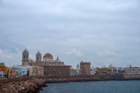 walk through the beautiful city of Cadiz, Spain Stock Photo