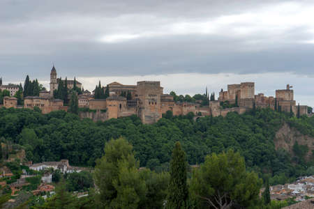 Beautiful Alcazaba nazari from the Alhambra in Granada, Andalusia Editorial