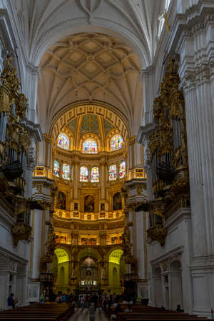 Interior of the cathedral of Granada, Andalusia