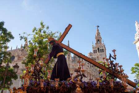 Train penance of Our Father Jesus of the Humility of the Brotherhood of the Cerro del Aguila, Holy Week in Seville