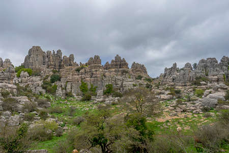 Natural site of the Torcal of Antequera in the province of Malaga, Andalusia
