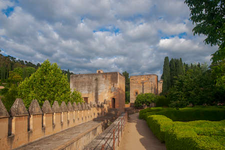 Wall of the Alhambra in Granada, Andalusia