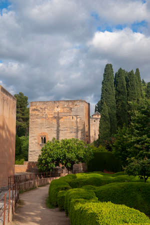 Wall of the Alhambra in Granada, Andalusia Imagens - 131861343