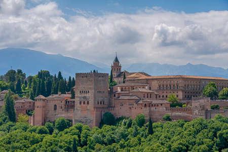 Beautiful Nasrid alcazaba of the Alhambra in Granada, Andalusia Imagens - 131861345