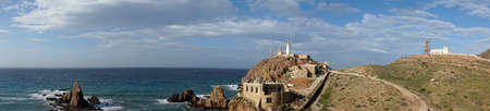panoramic Reef of the sirens in the natural park Cabo de Gata, Almeria