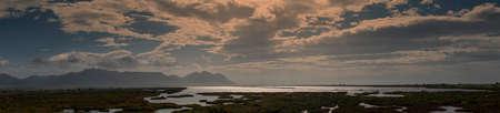 Panoramic view of the cabo de gata salt flats, Almeria
