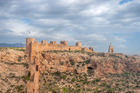 Monumental Complex of the Alcazaba of Almeria, Andalusia 免版税图像