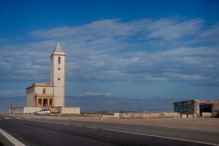 church of the salt mines in the natural park of Cabo de Gata, Almeria