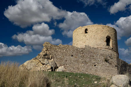 remains of the old castle in the municipality of Jimena de la Frontera, Andalusia Banque d'images
