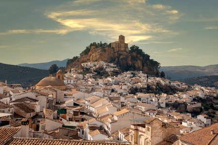Villages of Andalusia, Montefrio in the province of Granada 版權商用圖片