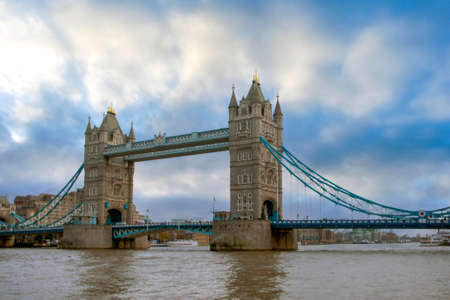 Tourist bridge of the Two Towers Of London Imagens