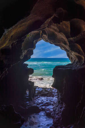 the beautiful Cave of Hercules in Tangier, Morocco