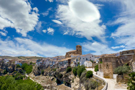 view of the beautiful town of alhama de Granada, Andalusia