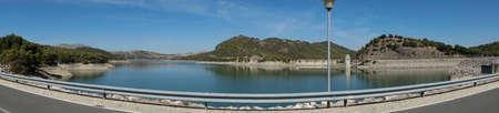 Guadalteba or guadalhorce reservoir in el chorro, Malaga