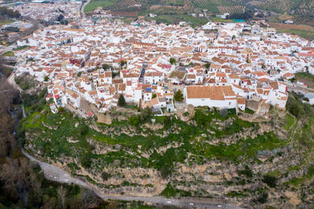 view of the municipality of el burgo in the region of the Sierra de las Nieves National Park, Andalusia 스톡 콘텐츠
