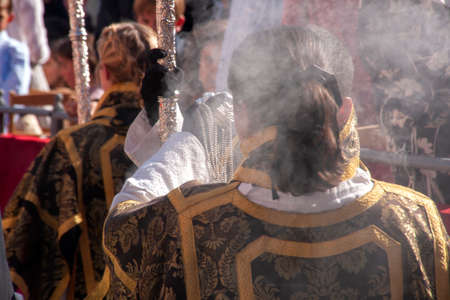 acolyte body in the holy week of Seville
