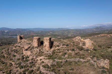ruins of the castle of Zalia in the province of Malaga, Andalusia