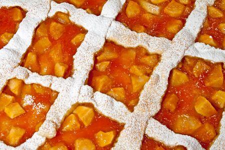 Homemade apple and apricot tart Stock Photo - 5881426