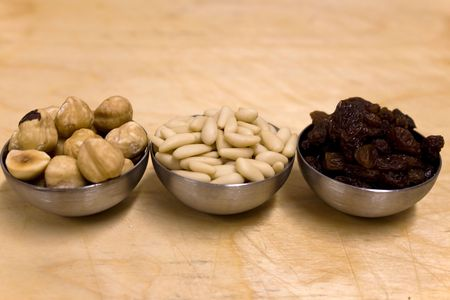 Assorted dried Fruits in bowls Stock Photo - 6847227
