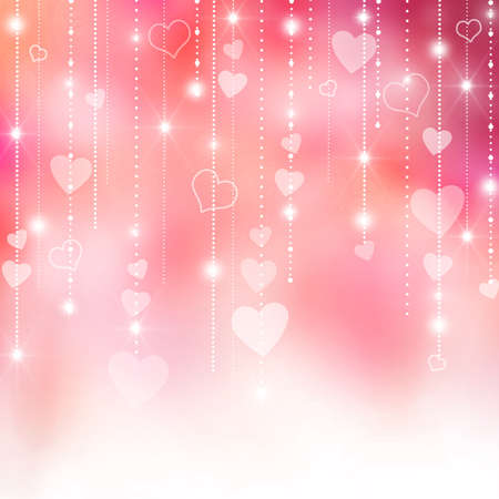 Valentine's love hearts pink and purple background Stock Photo - 17126886