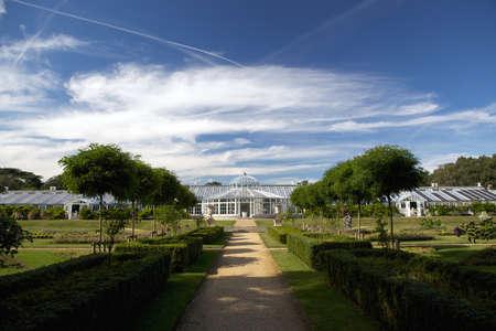 19 세기 Chiswick, 런던, 영국에 지어진 Chiswick 정원 온실