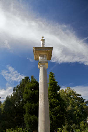 Doric Column at Chiswick House and Gardens, London, UK Stock Photo